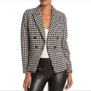 Bagatelle Double Breasted Houndstooth Blazer XS